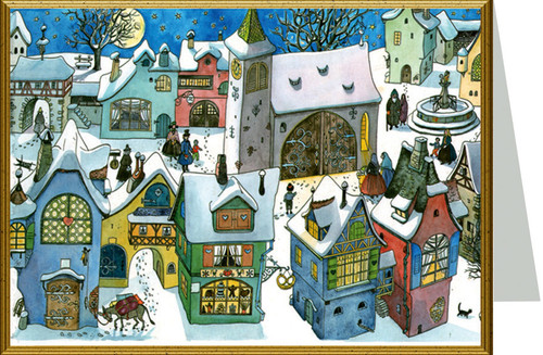 German Town in Winter Christmas Card