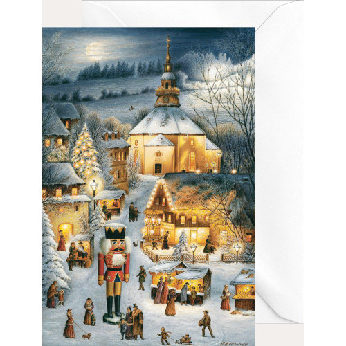 Christmas in Seiffen German Christmas Card