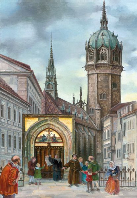 Martin Luther Wittenberg Church German Christmas Advent Calendar