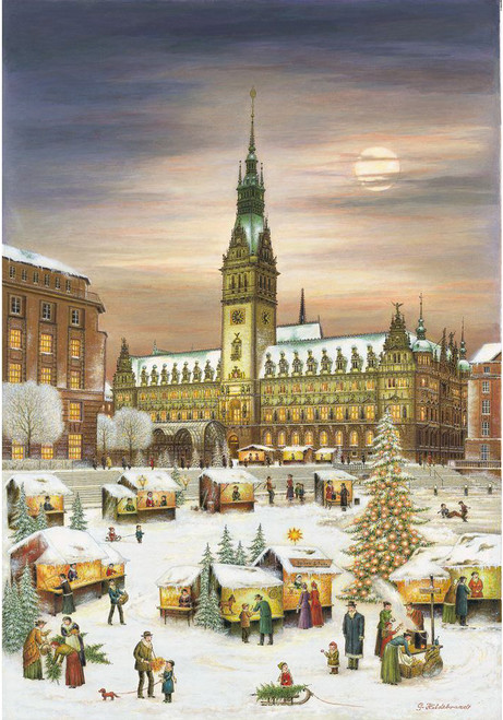 Hamburg  Christmas Market German Advent Calendar