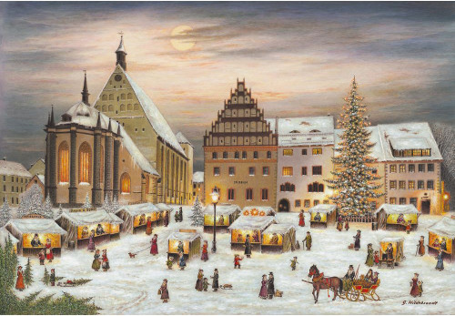 Freiberg Christmas Market Large German Advent Calendar