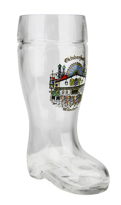 Oktoberfest Munich Glass Beer Boot 0.5 Liter