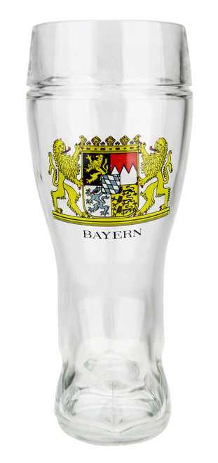 Custom Engraved 1 Liter Bavarian German Glass Beer Boot