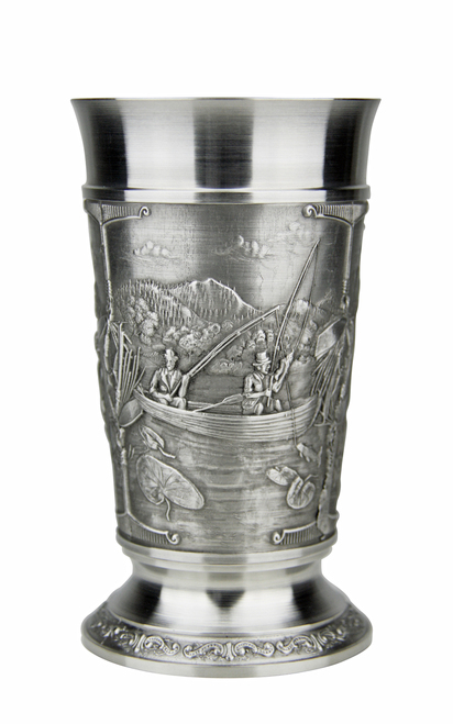Fishing Pewter Beer Cup