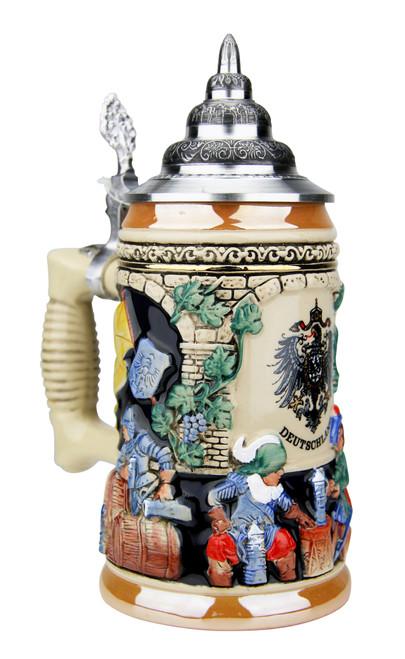 Medieval German Knights Beer Stein