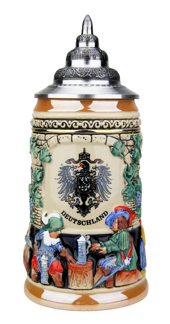 Medieval German Knights Beer Stein