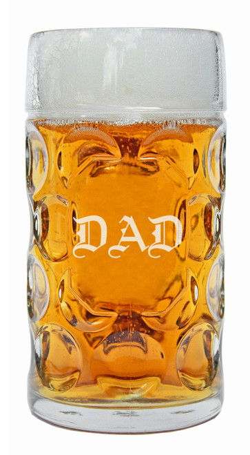 DAD Oktoberfest Glass Beer Mug 1 Liter