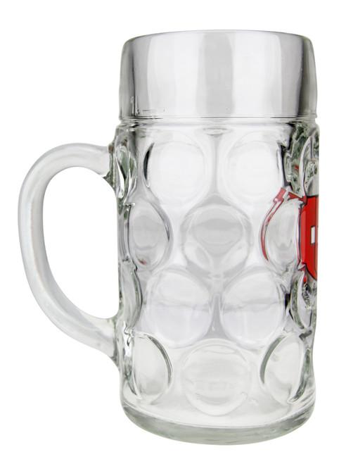Oktoberfest Glass Beer Mug with Swiss Cross