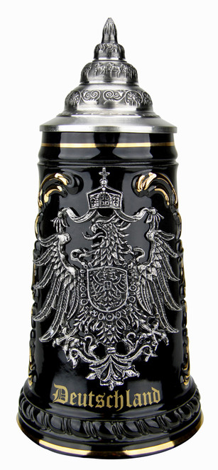 Deutschland Beer Stein with Pewter Eagle Badge