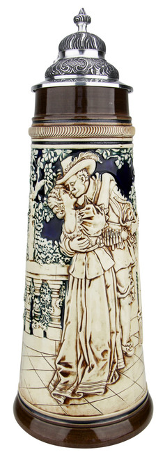 Hunters Kiss Antique Style Beer Stein | 2 Liter