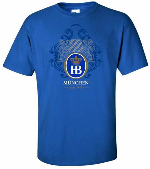 Hofbrauhaus HB 1589 Royal Blue T Shirt