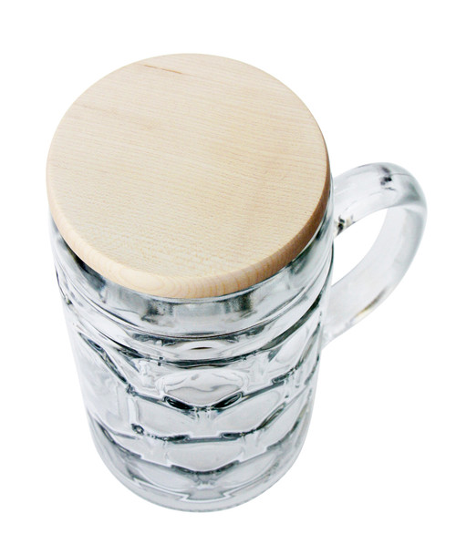 Wood Beer Mug Cover on 1L Mug (mug not included)