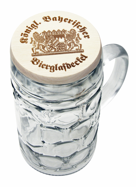 Bayerischer wooden deckel (1 liter mug not included)
