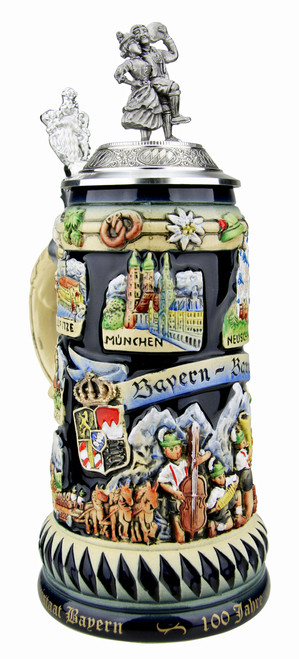 100 Anniversary of the Free State of Bavaria German Stein