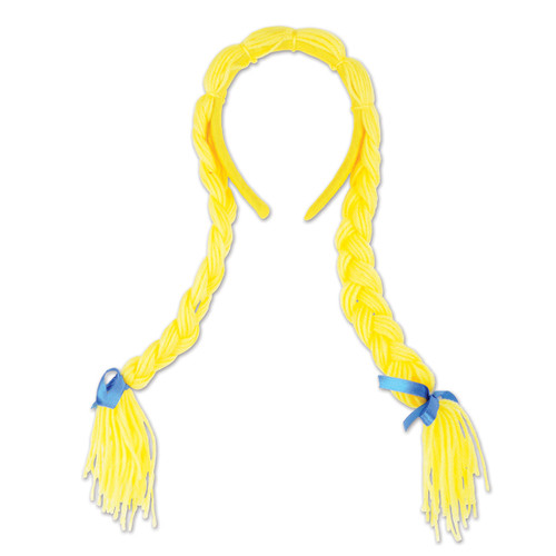 Oktoberfest Party Beer Maiden Pigtail Braids Headband