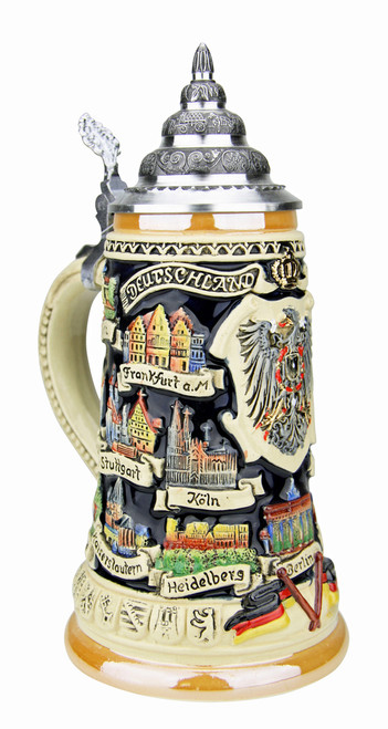 German Traveler Beer Stein | 0.4 Liter