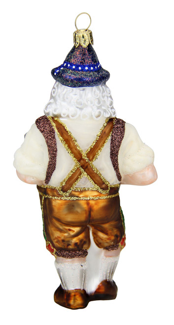 Bavarian Oktoberfest Oompah Band Santa Christmas Ornament