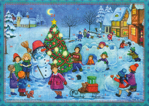 Winter Wonderland Fun German Christmas Advent Calendar