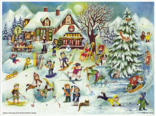 Ski Lodge German Advent Calendar