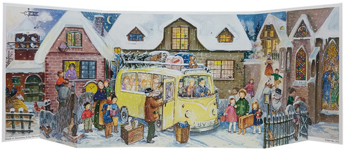 Nostalgic Mini Bus 1960s Reproduction 3D German Christmas Advent Calendar