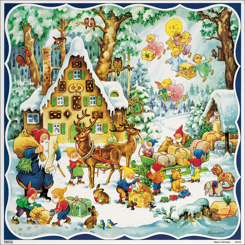 Santas Gingerbread House German Christmas Advent Calendar