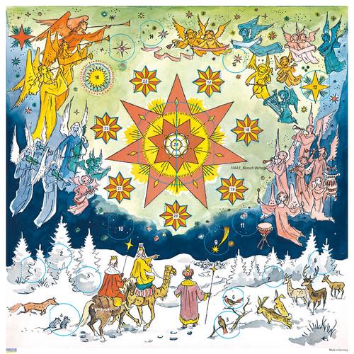 Christmas Star 1961 Reproduction German Advent Calendar