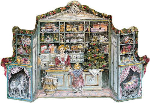 Christmas Store 1988 Reproduction 3D German Advent Calendar