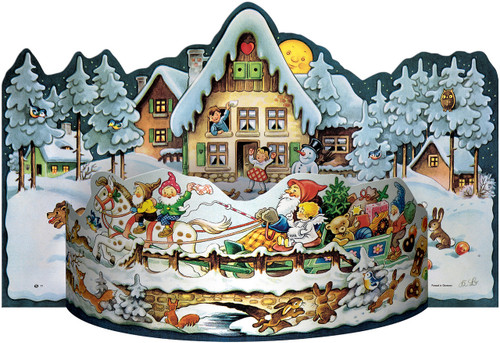 Sleigh Ride 1957 Reproduction 3D German Advent Calendar