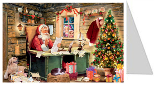 Santas List German Advent Calendar Christmas Card