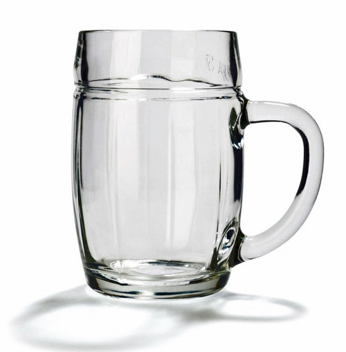 Barrel Shaped glass Beer Mug