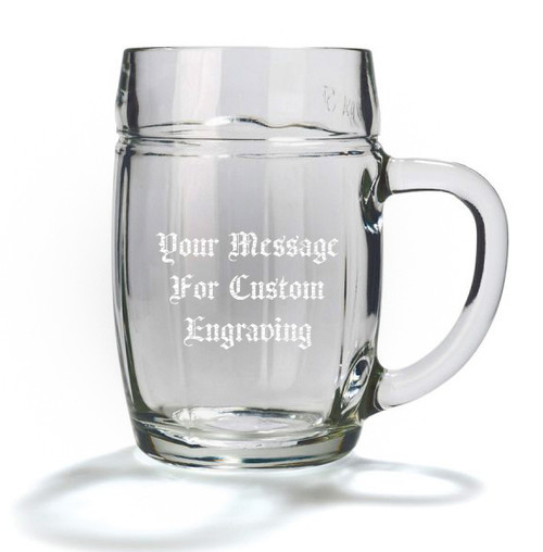 Custom Engraving Placement, 0.5L Mannheim Glass Beer Mug