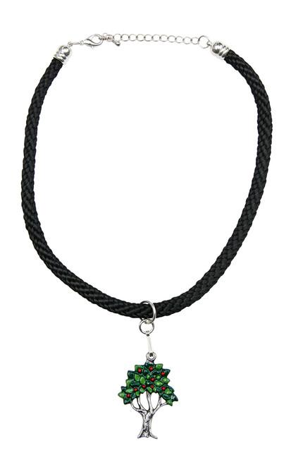 Fruit Tree German Pewter Dirndl Necklace