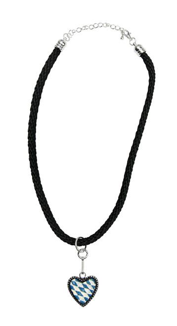 Bavarian Heart German Pewter Dirndl Necklace