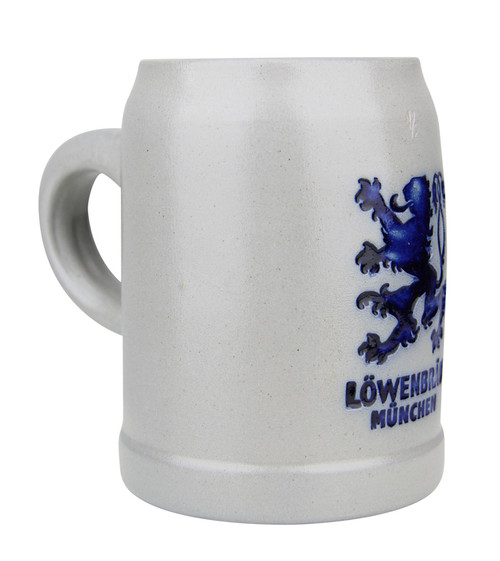 Lowenbrau Muchen Brewery Glazed Gray Beer Mug