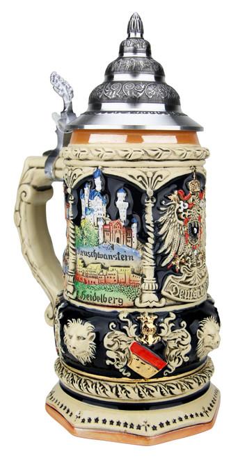 Deutschland Octagon Beer Stein | 0.75 Liter