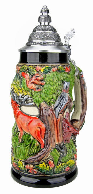 Wildlife Forest German Beer Stein