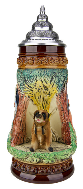 St Bernard Dog Wildlife Grotto Beer Stein
