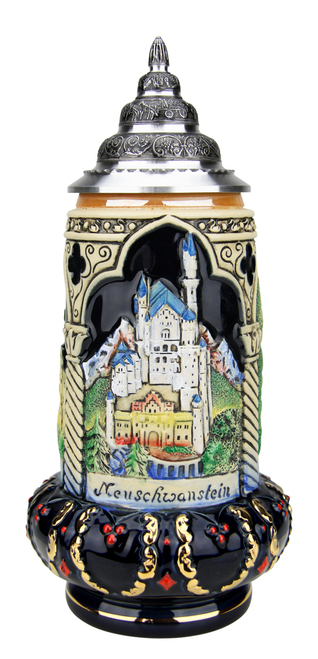 Castles of King Ludwig Crown Beer Stein