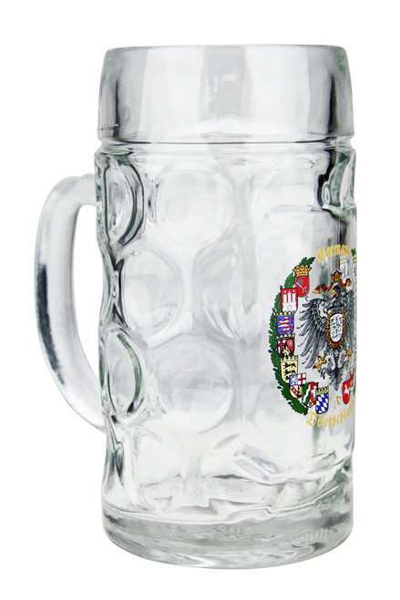 "Glass Beer Mug reads ""Germany - Deutschland"""