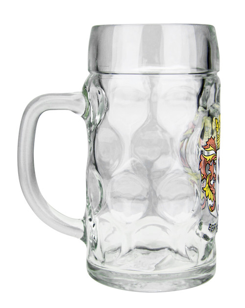 Berlin Crest Dimpled Oktoberfest Glass Beer Mug