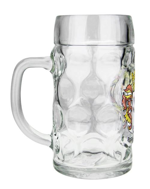 Berlin Crest Dimpled Oktoberfest Glass Beer Mug