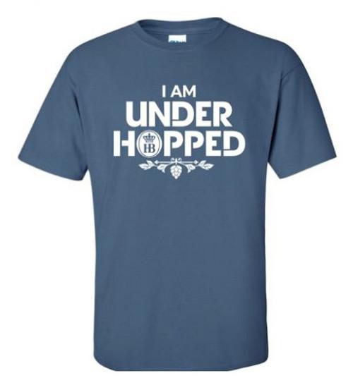 I Am Under Hopped HB Hofbrauhaus Brewery | Blue T Shirt