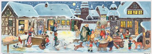 Village in Winter 1969 Reproduction German Advent Calendar
