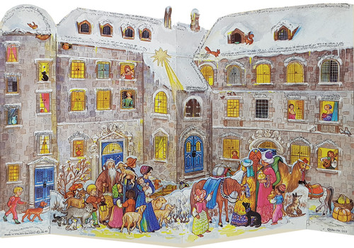 3-D Christmas Castle Courtyard German Advent Calendar