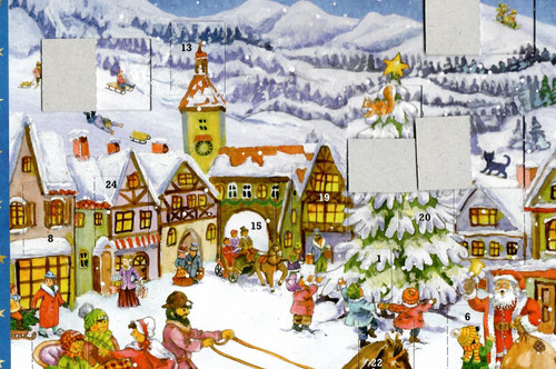 Christmas in the Mountains German Advent Calendar