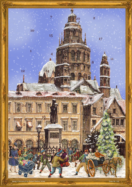 Victorian Mainz Cathedral German Advent Calendar