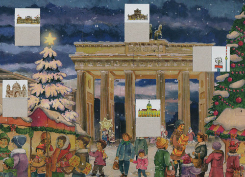 Berlin Brandenburg Gate German Advent Calendar