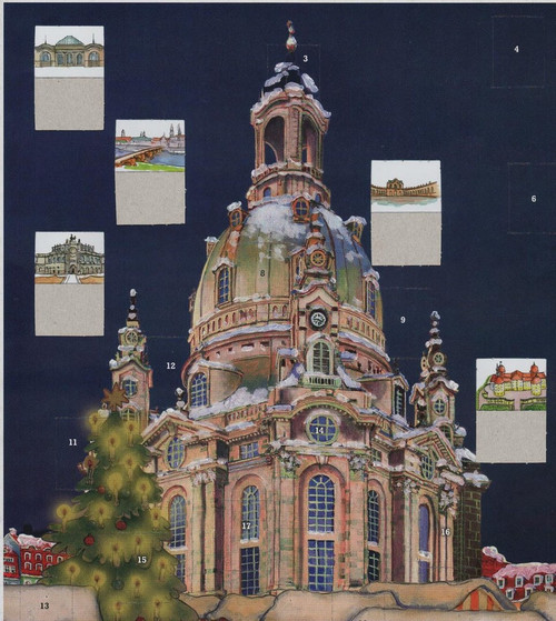 Frauenkirche Dresden German Advent Calendar