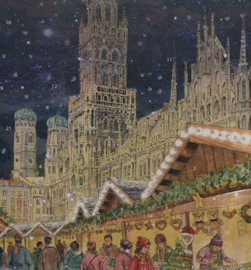 Munich Marienplatz German Advent Christmas Calendar