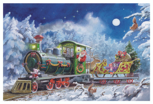 Train Ride German Christmas Advent Calendar